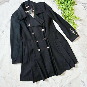 Joe Browns Modcloth Boldly Buttoned Fit Flare Coat